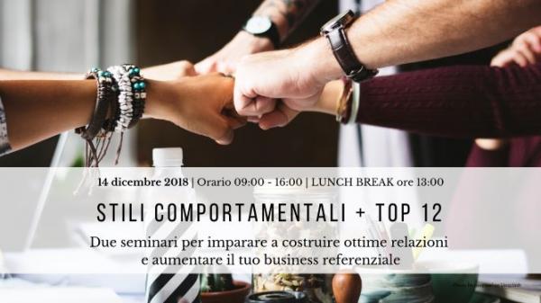 STILI COMPORTAMENTALI & TOP 12 | Seminari
